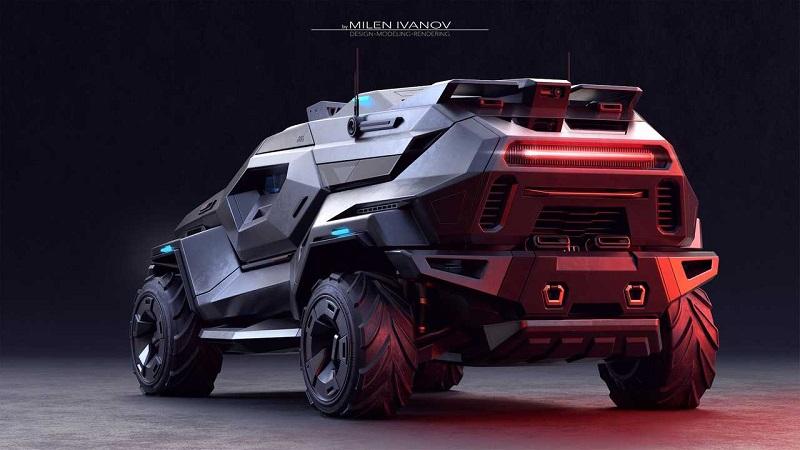 Bonkers Armortruck – невероятный концепт бронированного внедорожника